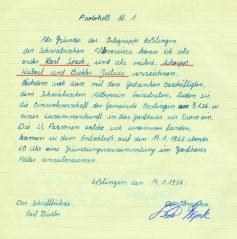 Orginaltext aus dem Protokoll vom 14. Januar 1956